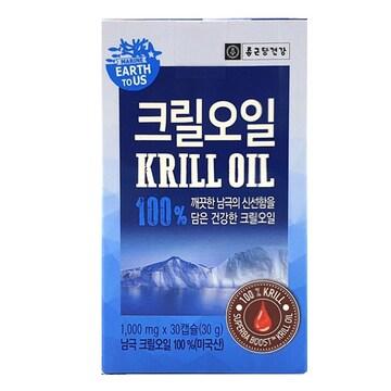 종근당건강 어스투어스 크릴오일 100% 30캡슐(3개)