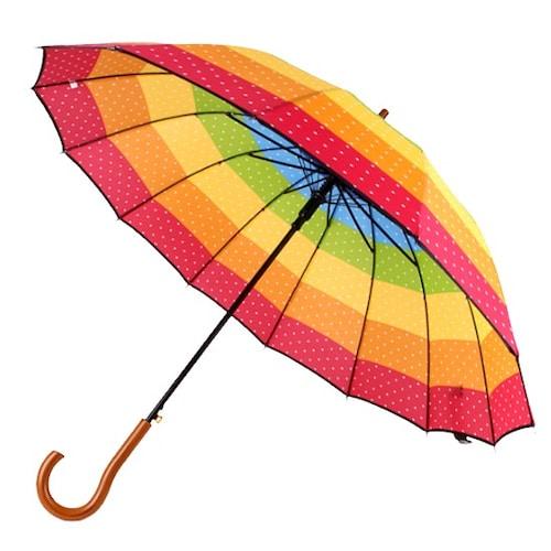 바니브라운  비오니 14K 레인보우 캉캉 자동 장우산_이미지