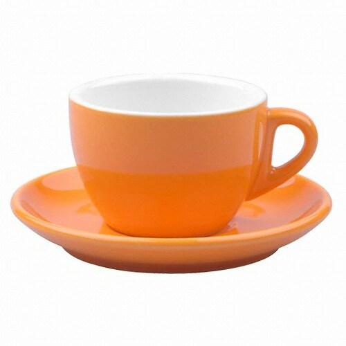 노빌타 2호 카푸치노 커피잔 200ml (오렌지)_이미지