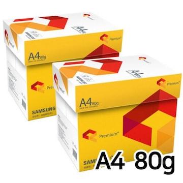 삼성물산  프리미엄 복사용지 A4 80g (10팩, 5000매)