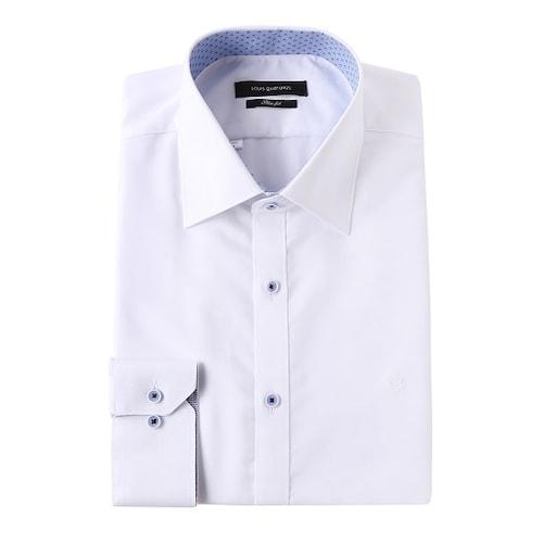 루이까또즈  긴소매  화이트  슬림 셔츠 Q7C831_이미지