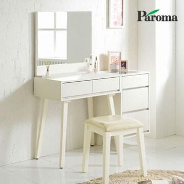 파로마  모네 원목다리 와이드거울 화장대세트+의자 (70cm)