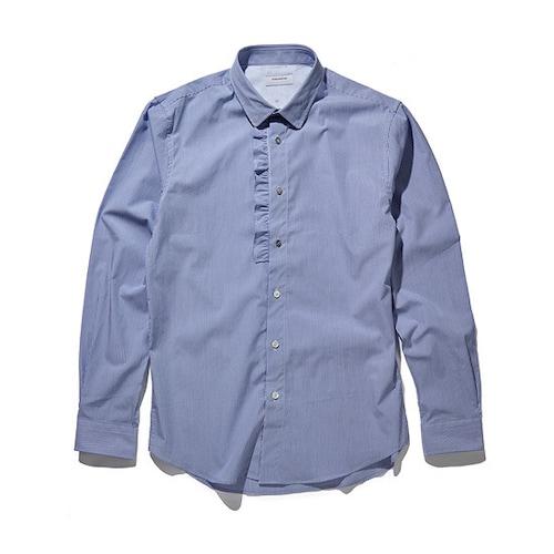코오롱인더스트리 커스텀멜로우 pin stripe button pointed shirts CWSAA17539BUX_이미지