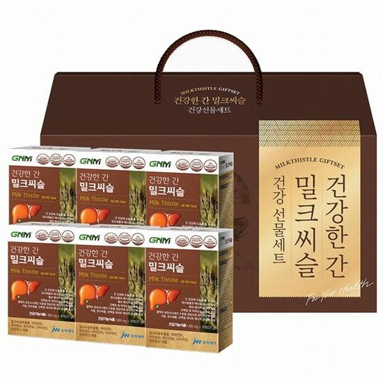 지엔엠라이프 GNM자연의품격 건강한 간 밀크씨슬 건강 선물세트(1개)