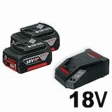 보쉬  18V 리튬이온 배터리 충전기 세트 (4.0Ah)_이미지