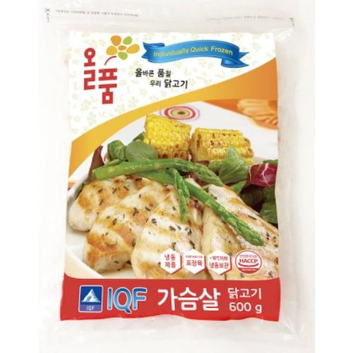 올품  국내산 냉동 닭가슴살 600g (4개)_이미지