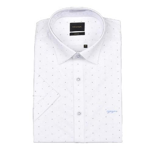 패션그룹형지 예작 투톤 프린트 슬림핏 반소매 셔츠 YJ8MBS984WH_이미지
