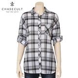지에스지엠 체이스컬트 여성 루즈핏 7부 체크 셔츠 GBRG5543C30_이미지