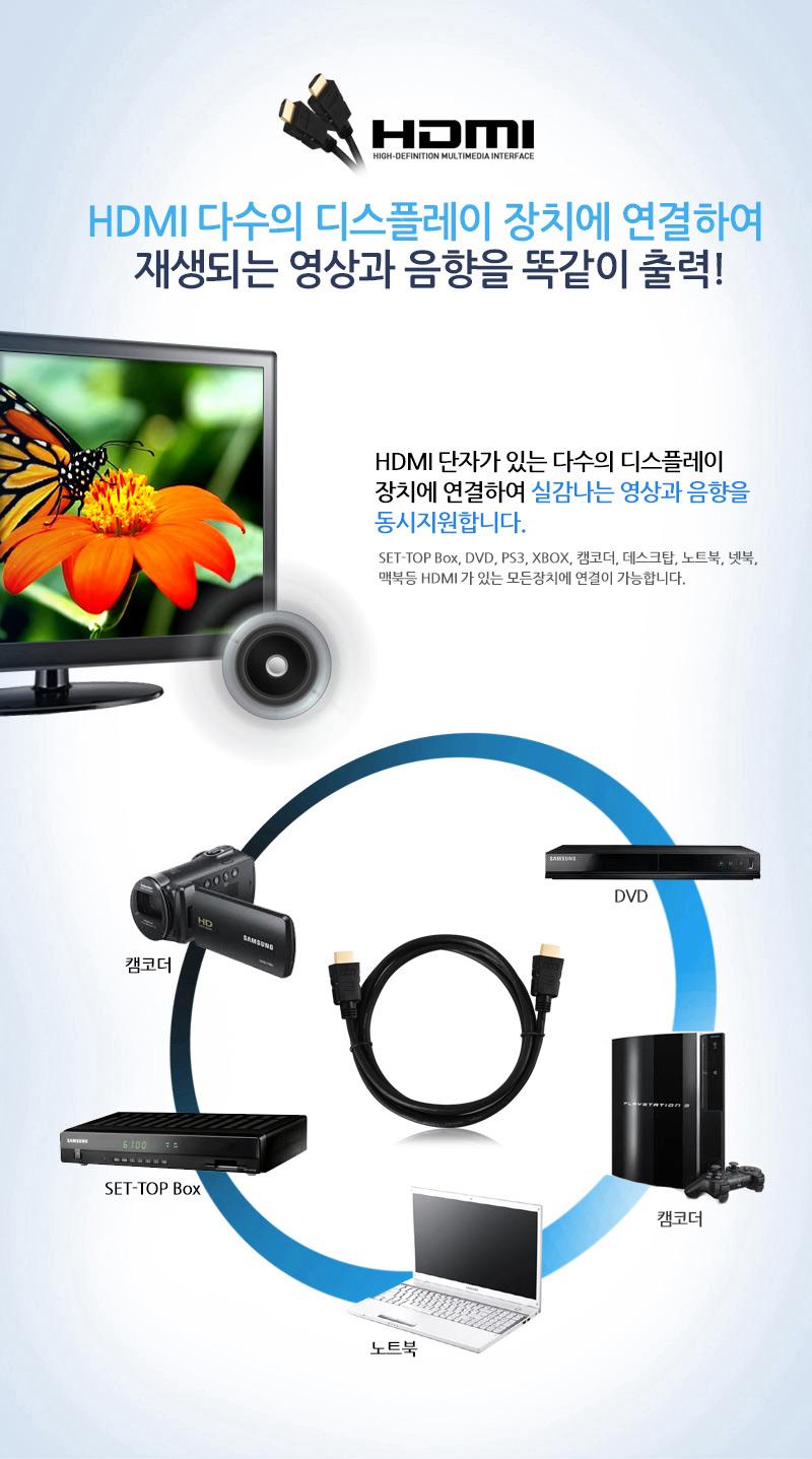 이지넷유비쿼터스 넥스트 NEXT-10050HDCA HDMI 케이블 (0.5m)