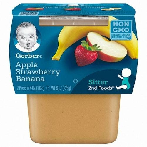 네슬레 거버 2단계 사과 딸기 바나나 퓨레 226g (2개)_이미지