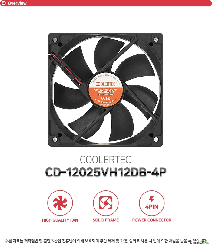 COOLERTEC CD-12025VH12DB-4P