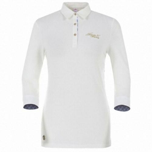JDX골프 여성 소매 체크 포인트 7부 티셔츠 X2QMTLW52OW_이미지