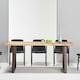 데코마인 주피터 우드슬랩 몽키포드 테이블 기본다리형 1800 (의자별도)_이미지