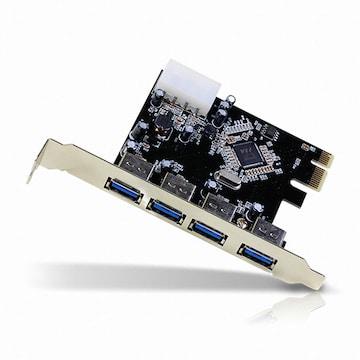 서진네트웍스 UNICORN USB 3.0 4포트 PCI Express 카드 (EXP-400U)_이미지