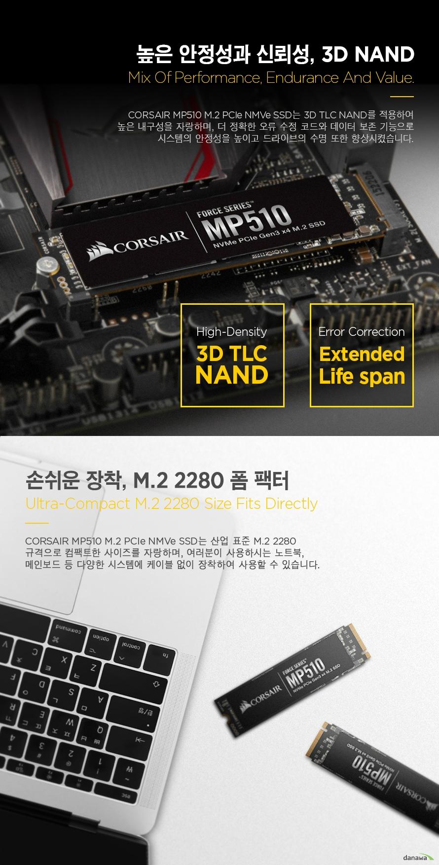 CORSAIR Force Series MP510 M.2 NVMe (480GB)