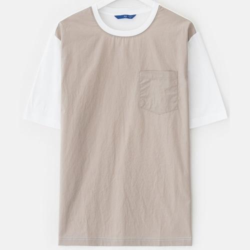 삼성물산 로가디스 남성 코튼 우븐 배색 티셔츠 RY8342H85A_이미지