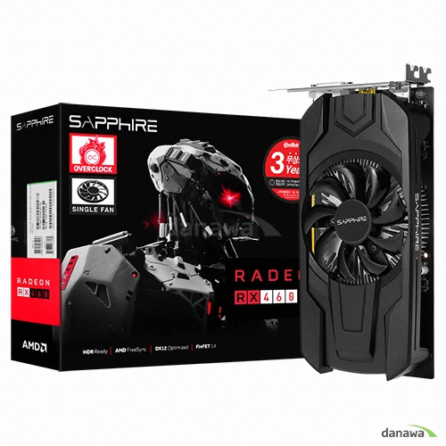 SAPPHIRE 라데온 RX 460 OC D5 2GB Single Fan