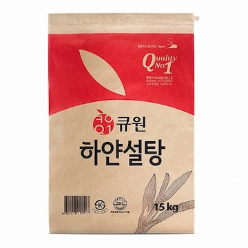 삼양사 큐원 하얀설탕 15kg(1개)