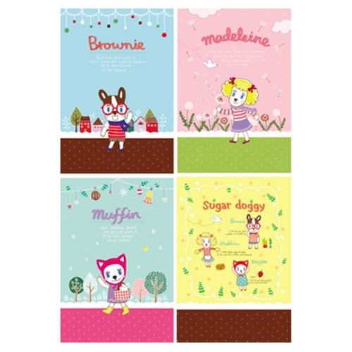 로마네  Sugardoggy A4 note books_이미지
