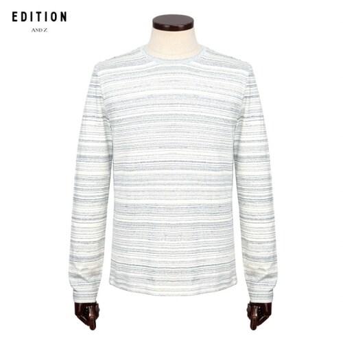 신성통상 에디션앤드지 스트라이프 긴팔 티셔츠 BEV3TR1022MBL_이미지