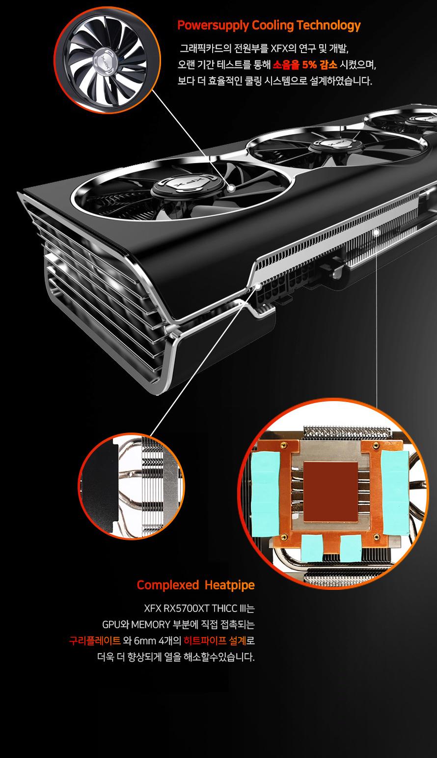XFX  라데온 RX 5700 XT THICC III ULTRA D6 8GB