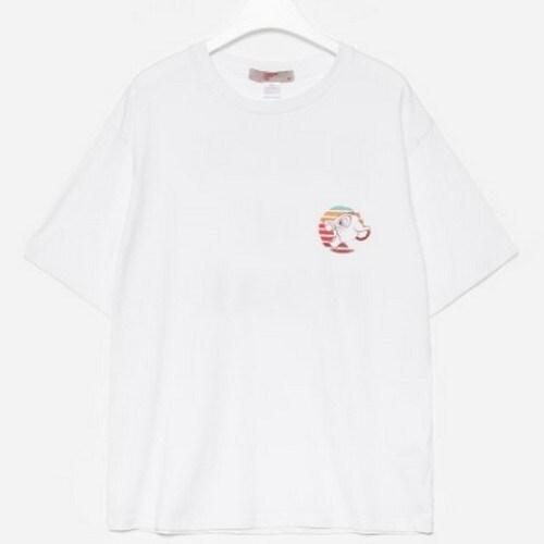 에잇세컨즈 X 라이온킹 남성 화이트 코튼 프린팅 반소매 티셔츠 429742LX31_이미지
