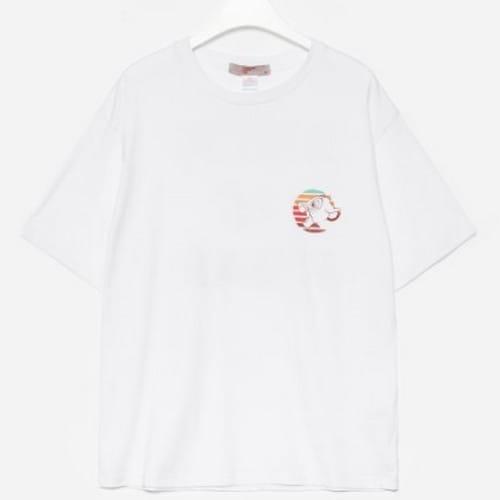 에잇세컨즈 X 라이온킹 화이트 코튼 프린팅 반소매 티셔츠 429742LX31_이미지