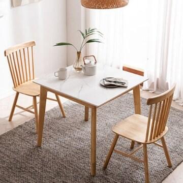 채우리 모딜리아니 M88 세라믹 원목 식탁세트 800 (의자2개)_이미지