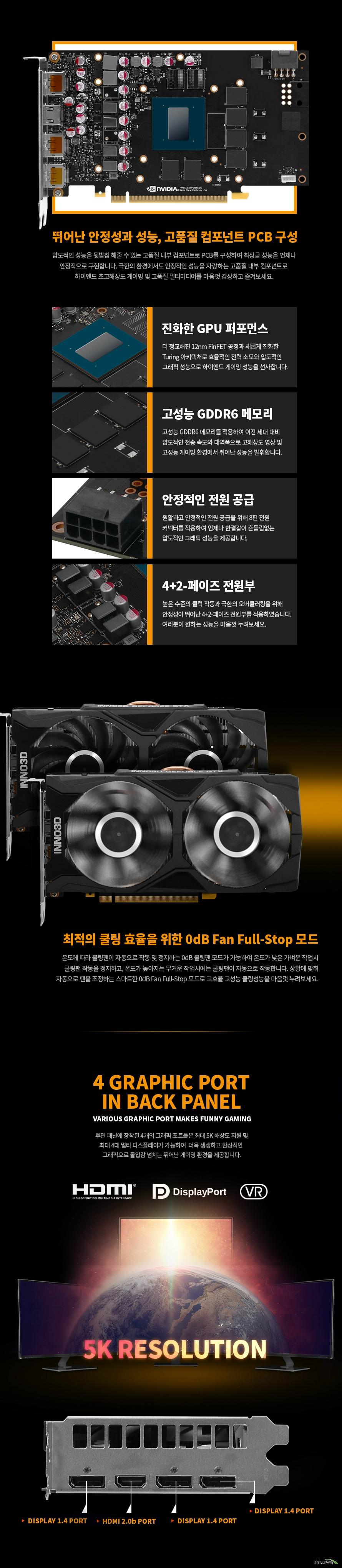 INNO3D 지포스 GTX 1660 SUPER D6 6GB TWIN X2