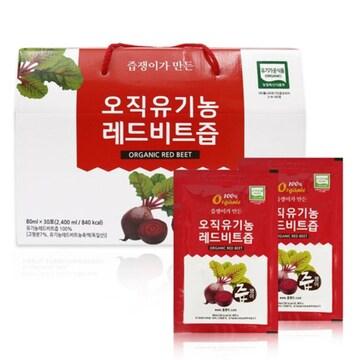 굿모닝비엔에프 즙쟁이 오직 유기농 레드비트즙 80ml 30포(1개)