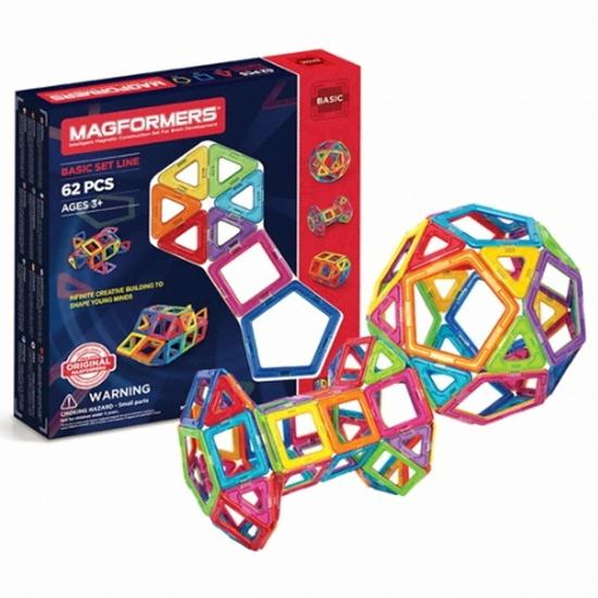 짐보리 맥포머스 삼각형 사각형 오각형 세트 62pcs