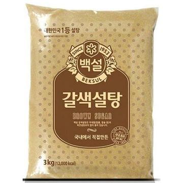 CJ제일제당 백설 갈색설탕 3kg(1개)