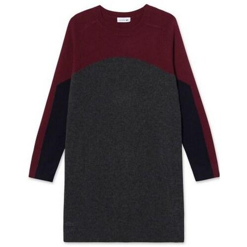 동일드방레 라코스테 여성 컬러블럭 스웨터 원피스 EF9139-17CQSV_이미지
