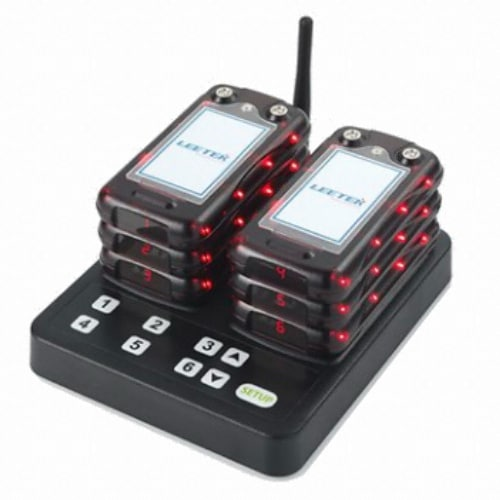 리텍  카드형 진동벨 RCL x 6개 + 충전 송신기 (1세트)_이미지