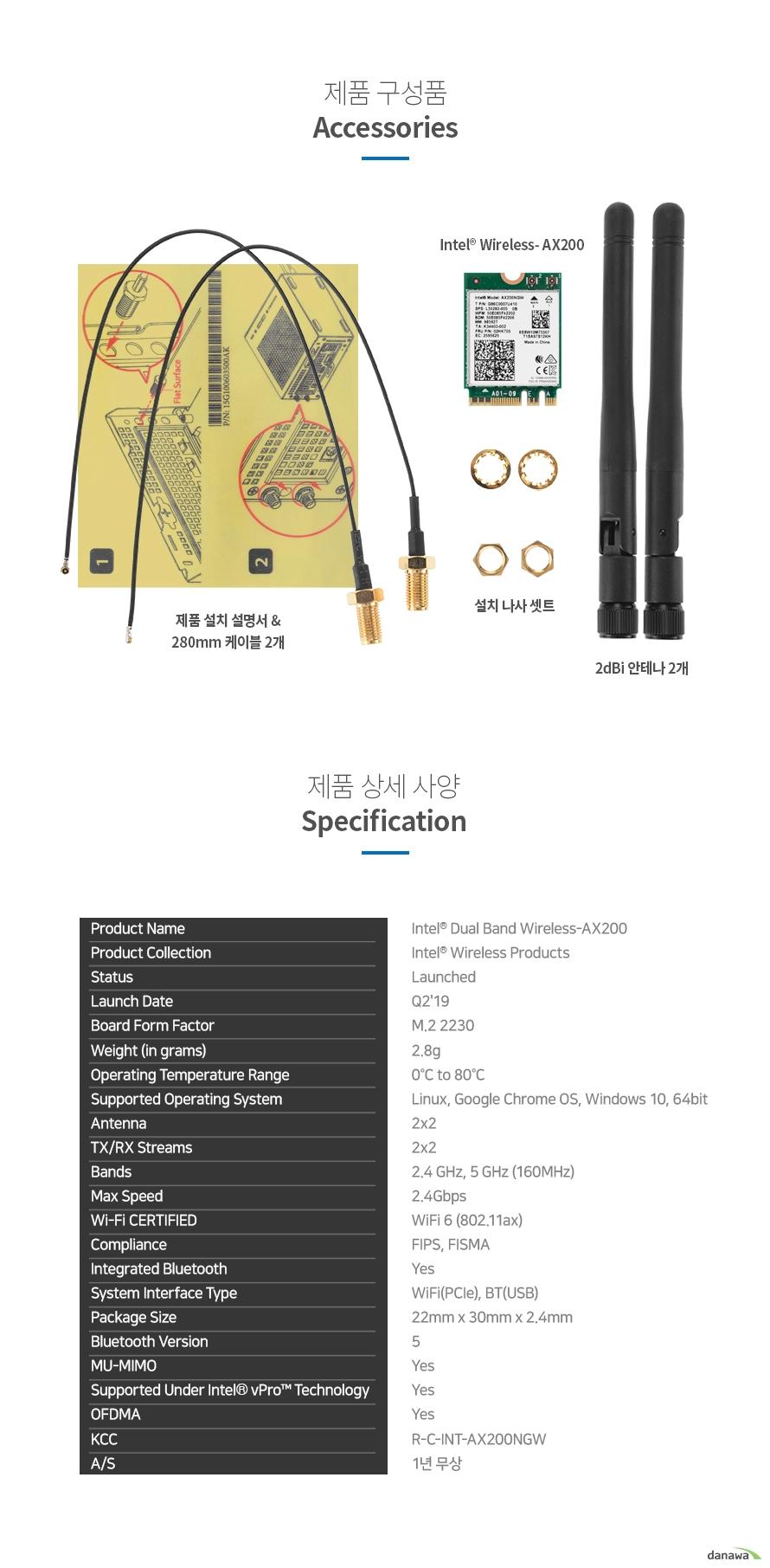ASRock  Deskmini WiFi KIT AX200 무선랜카드