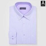 란체티  바이올렛 체크 도비 일반핏 긴소매 셔츠 LPF8303VI_이미지