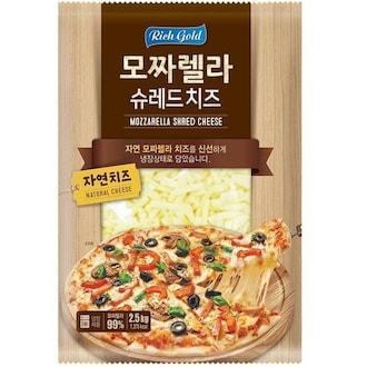 (주)동서 리치 골드 모짜렐라 슈레드 치즈 2.5kg (1개)_이미지