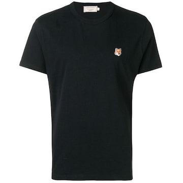 메종키츠네 폭스 패치 티셔츠 AM00103KJ0008 (블랙)_이미지