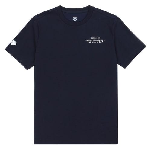 데상트  유니 기본형 볼륨 백면 그래픽 코튼 반팔 티셔츠 S9223VTS44_이미지