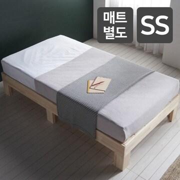 블리스데코 편백나무 평상형 침대 SS (매트별도)_이미지