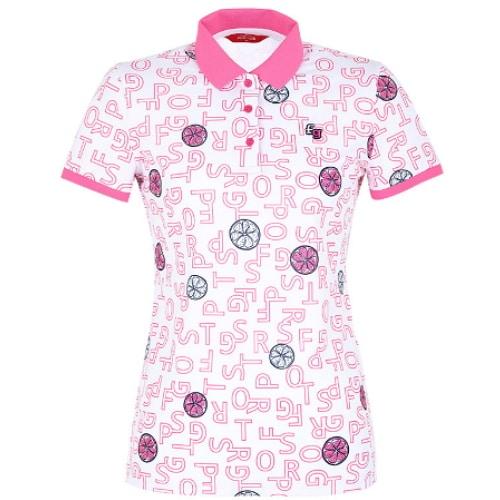 팬텀 로고 레몬 모티브 반팔 카라 티셔츠 22102TO092_이미지