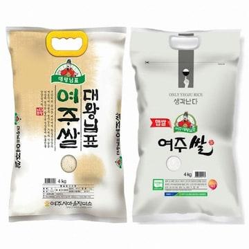 대왕님표  여주쌀 히토메보레 4kg (19년 햅쌀) (1개)