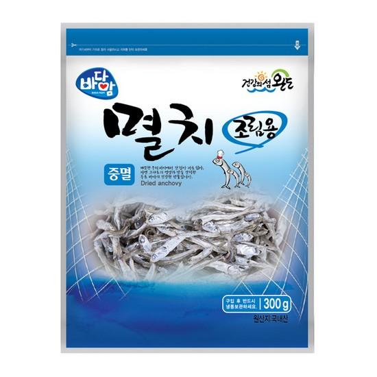 대진식품 바다맘 완도멸치 조림용 중멸 (0.3kg)_이미지