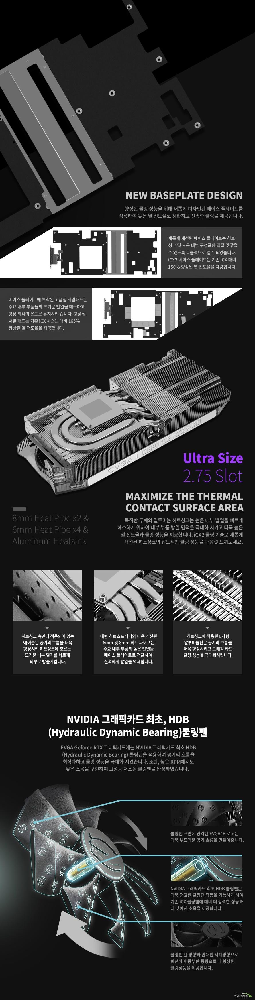 EVGA  지포스 RTX 2080 FTW3 ULTRA GAMING D6 8GB