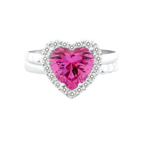 브리앙  반지 18K 로맨틱 핑크 사파이어_이미지