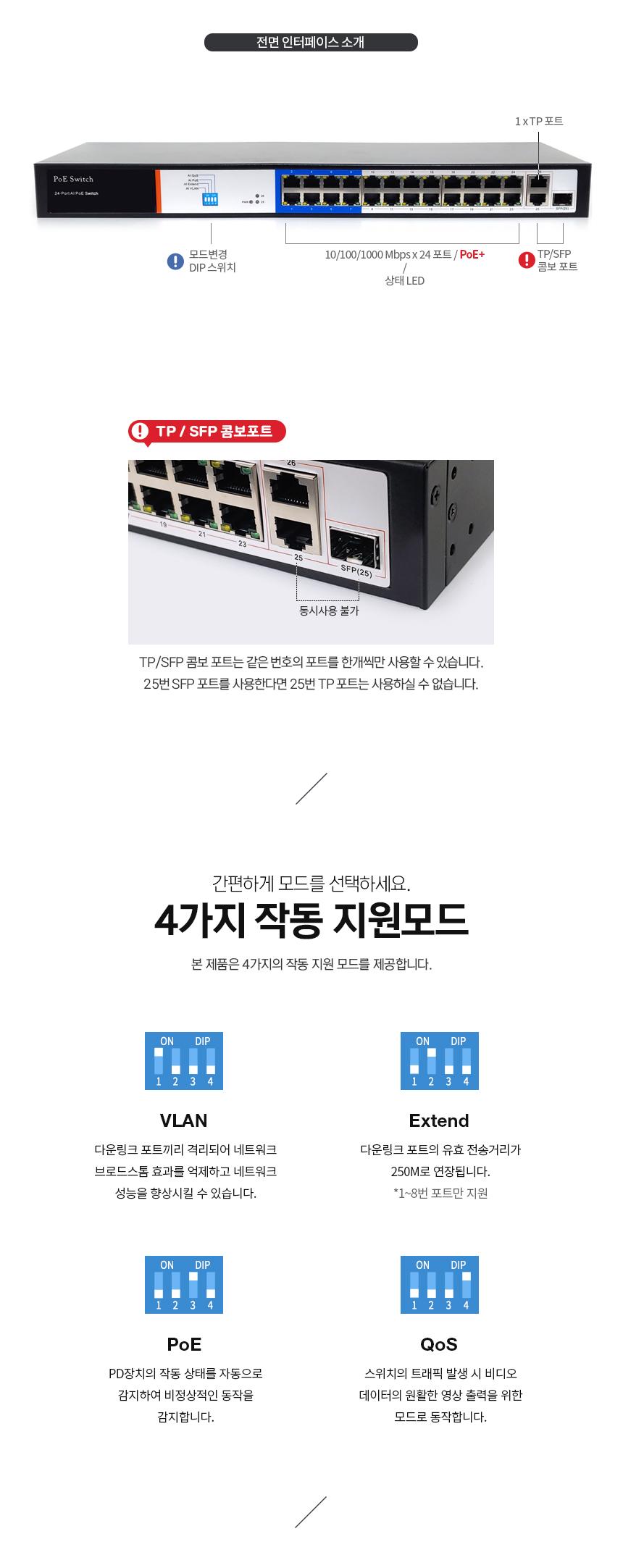 이지넷유비쿼터스 넥스트 NEXT-POE428SFP-GTP 스위치허브