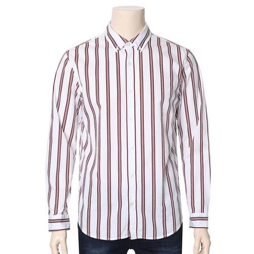 체이스컬트 남성 변형 세로 스트라이프 셔츠 JARK5412B01_이미지