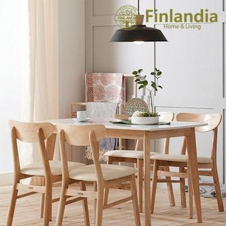 핀란디아 데니스 대리석 식탁세트 1200 (의자4개)_이미지