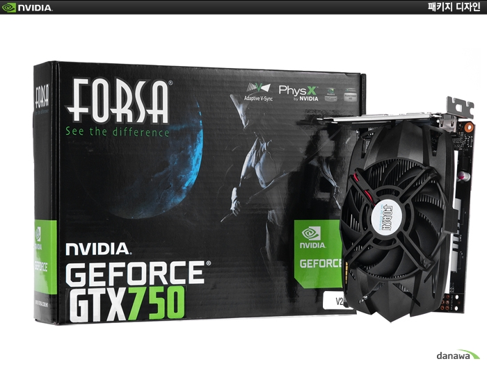 FORSA 지포스 GTX750 V2 D5 1GB 패키지