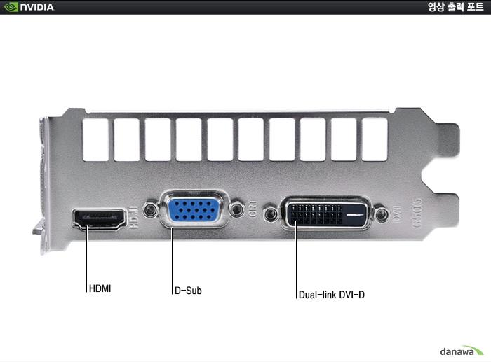 FORSA 지포스 GTX750 V2 D5 1GB 포트 부